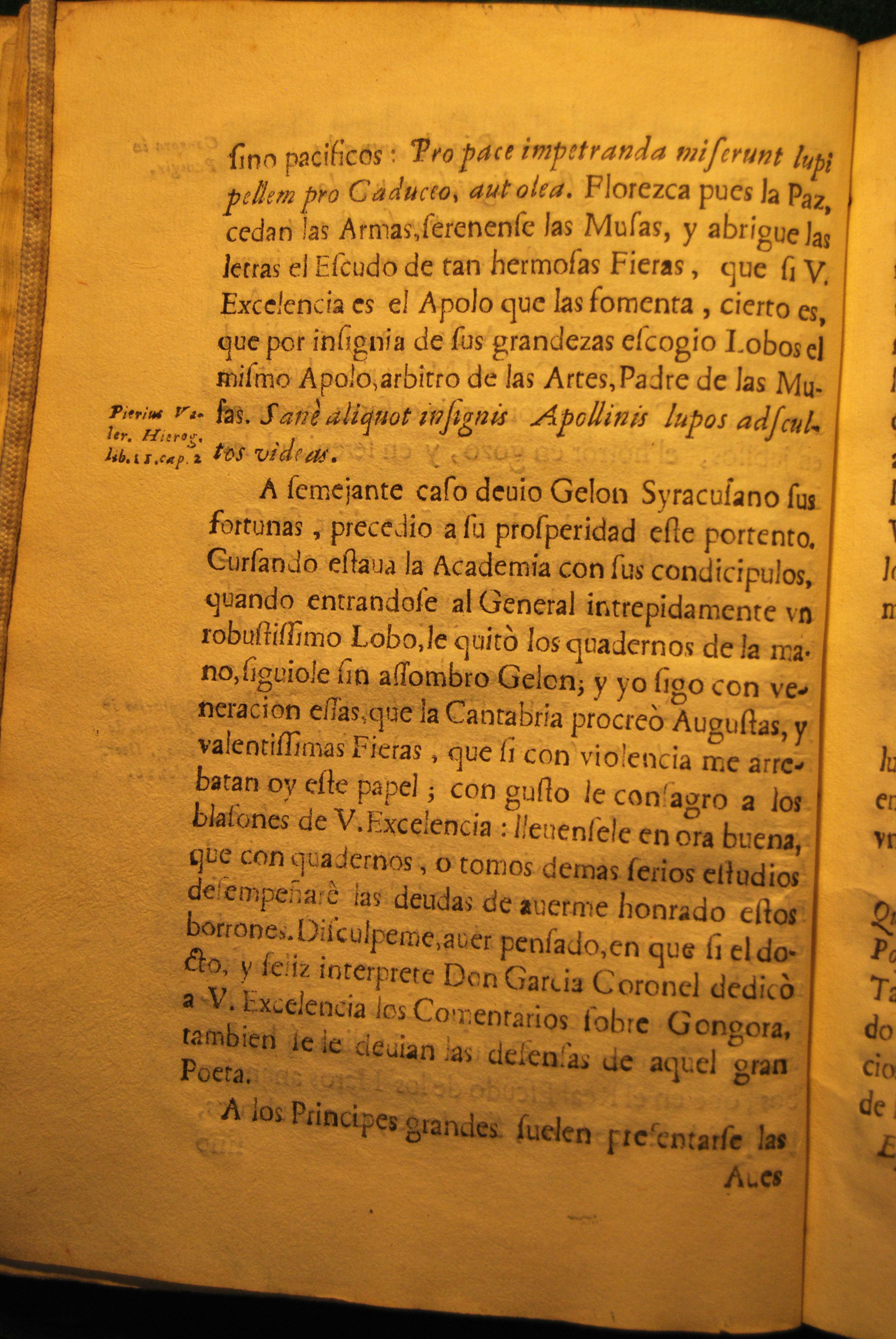 Apologético En Favor De Don Luis De Góngora Príncipe De Los Poetas